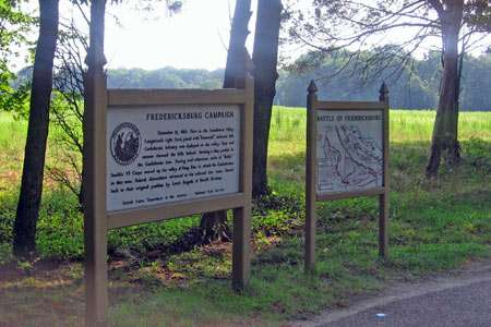 Interpretive sign and map