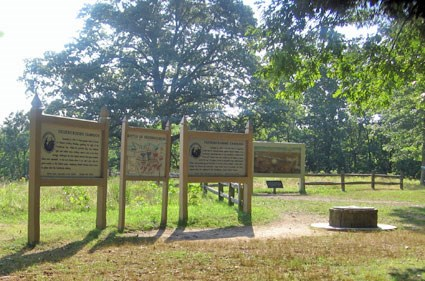 Interpretive signs at Prospect Hill