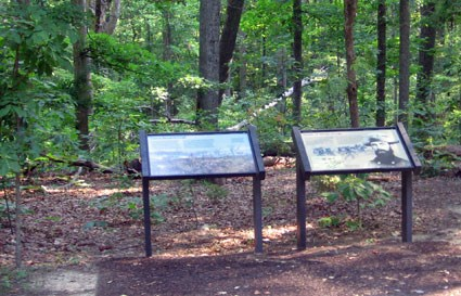 Interpretive Signs at Union breakthrough