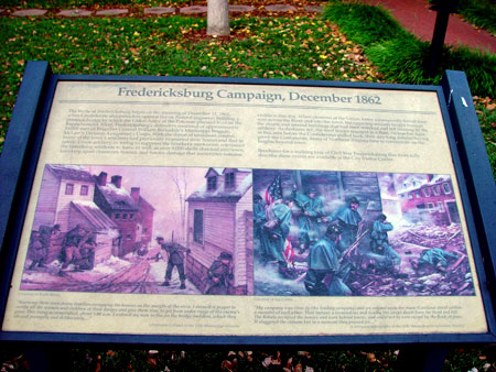 Street fighting exhibit sign