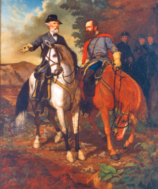 Painting depicting last meeting of Lee and Jackson.