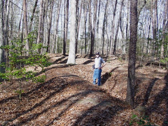 Confederate earthworks of Lee's Last Line