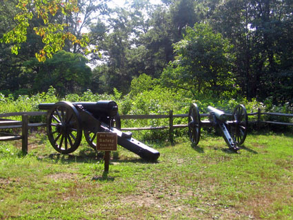 Artillery on Howison Hill