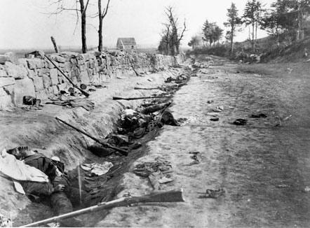 1863 image of Sunken Road