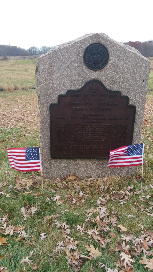 3rd US Regular Infantry Monument at Gettysburg