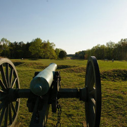 Cannon at Fairview sighted toward Hazel Grove