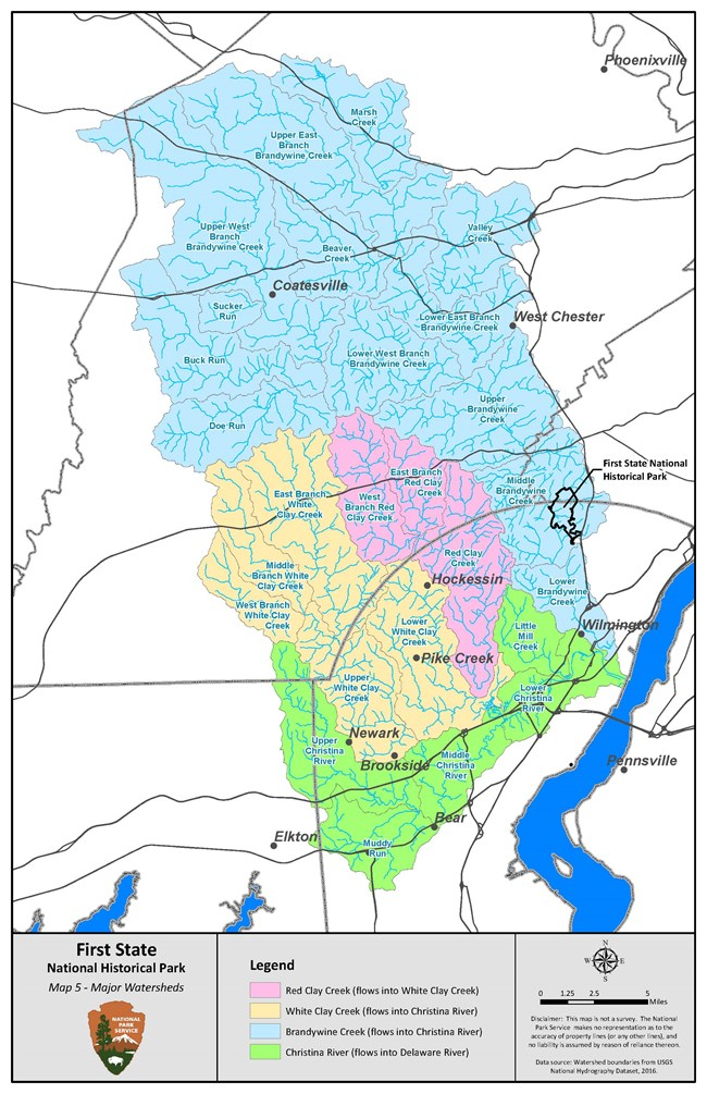 A map showing all of the major watersheds that surround Beaver Valley.