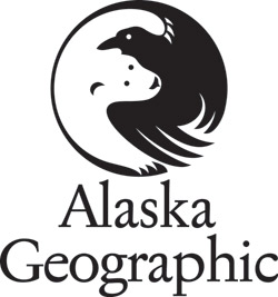 Alaska Geographic raven and polar bear logo