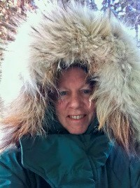 Ranger Laurie and her arctic parka with a wolf ruff
