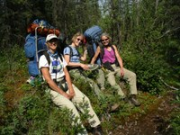 2004 Resident Artists take a break during their backpacking Artist in Resident patrol.