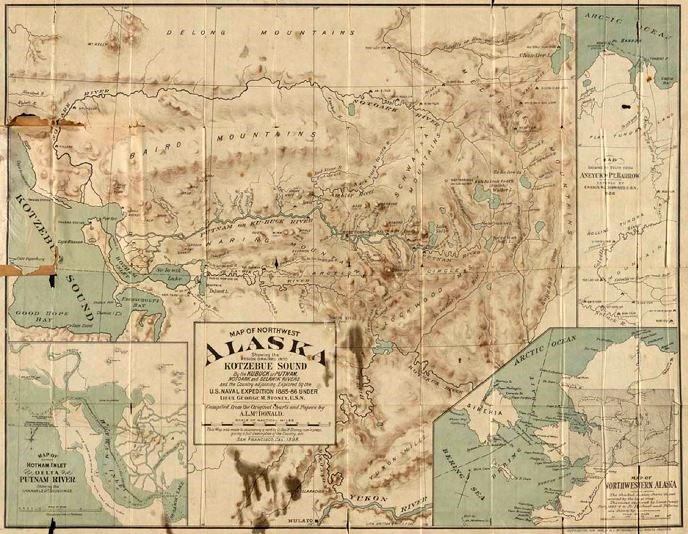 1899 map of northwestern Alaska by George Stoney