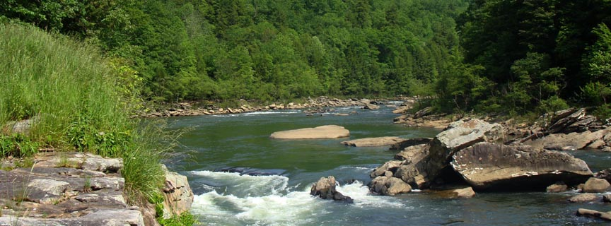 river passing through a rocky gorge