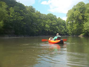 kayaker on the Bluestone River