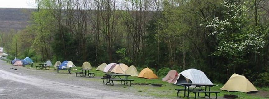 row of tents