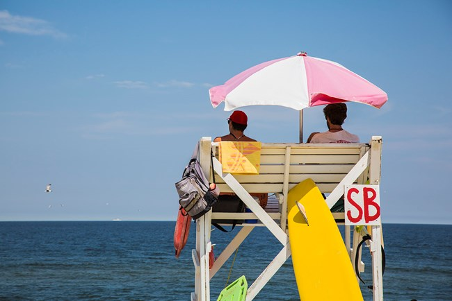 Lifeguards on duty at Gateway's Sandy Hook Unit
