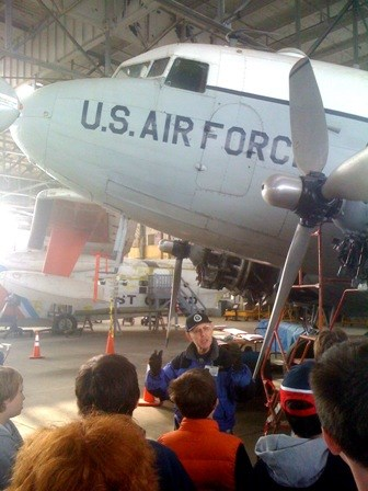 HARP Volunteers repair and interpret historic aircraft at Floyd Bennett Field's Hangar B.