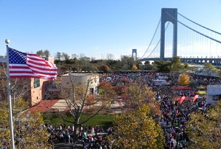 About 45,000 athletes gathered at Fort Wadsworth on November 7, 2010 to begin the annual New York City Marathon.