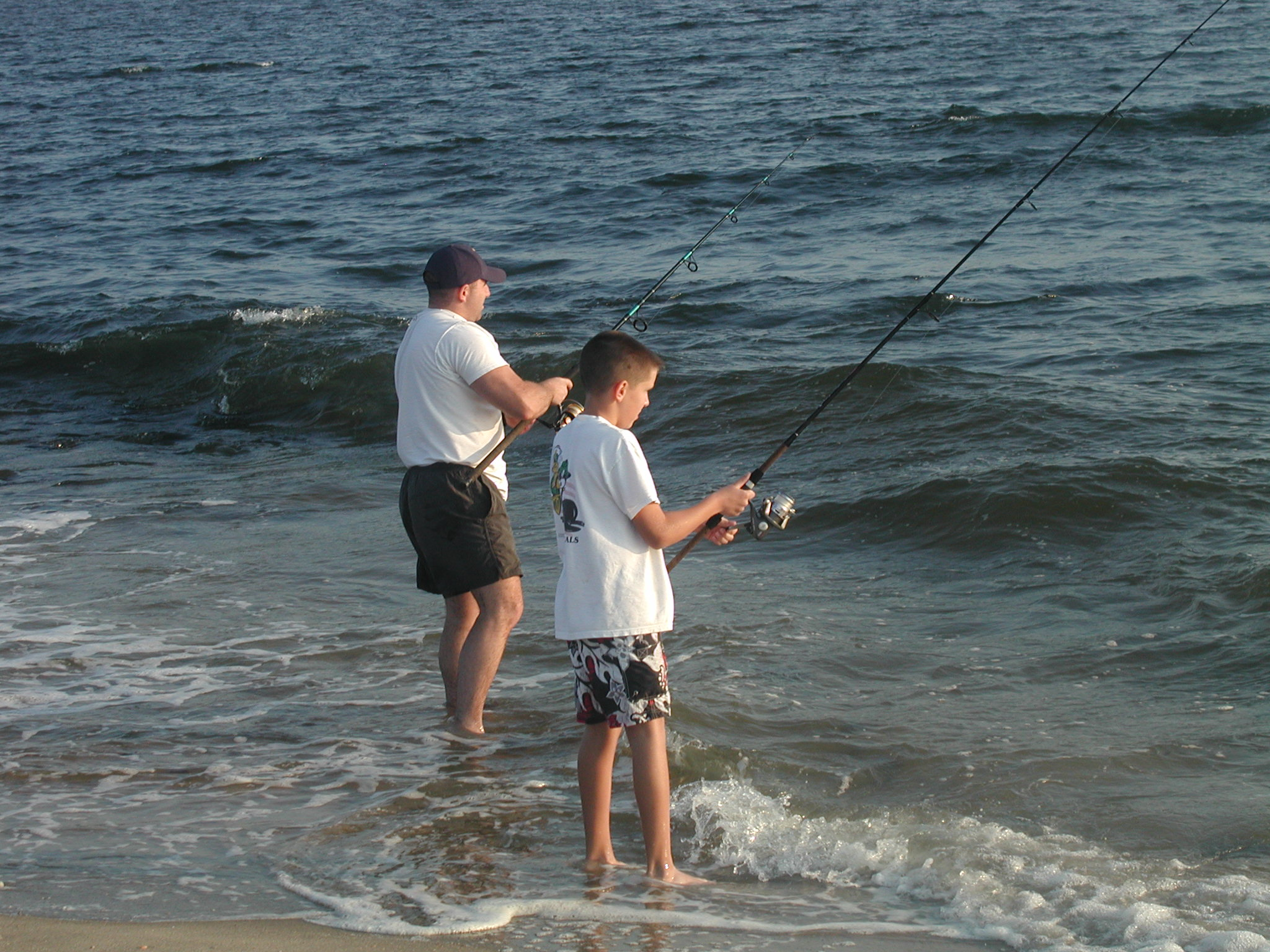 Father and son fishing at Gateway.