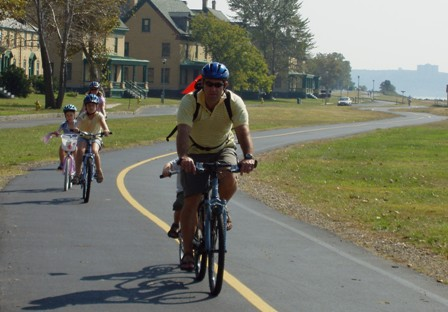 Riding a bicycle along Sandy Hook's seven-mile Multi-Use Path is a great, and green, way to see the park up close.