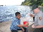 Student from I.S. 27 tests turbidity