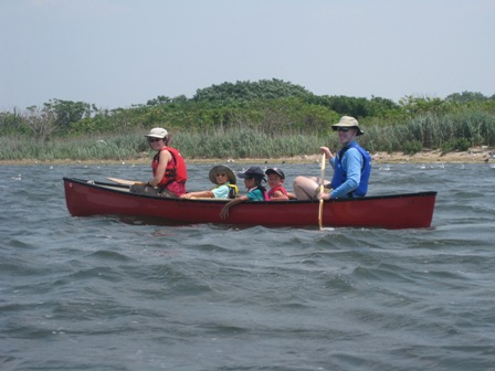 Hand-powered boating offers a healthy and environmentally friendly way to see salt marshes up close without disturbing wildlife.