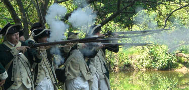 See Revolutionary War military demonstrations this Sunday at Fort Wadsworth on Staten Island.
