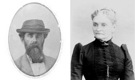 "C.W. Patterson and Sarah Patterson Johnson, the brother-sister team that ran the Lighthouse. Sarah wrote to her father, ""...I get homesick...  We can't hardly tell whether its spring or not... [because] the sand and cedars never change."""