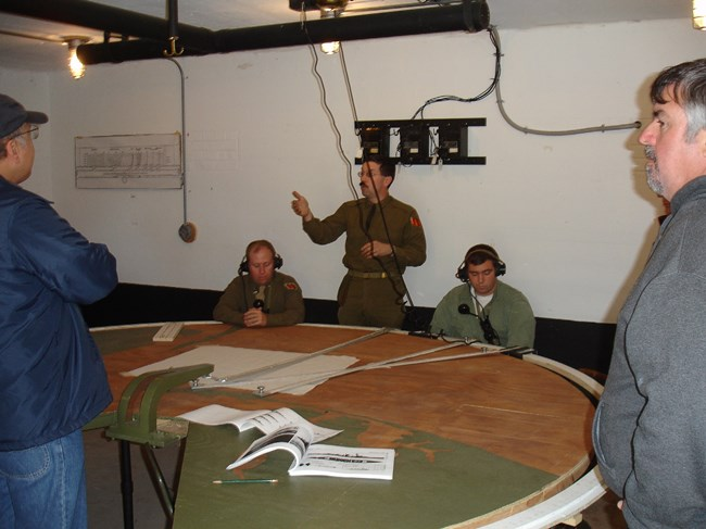 AGFA members working in Gunnison's plotting room.
