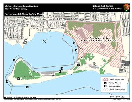 Great Kills Park site map- this area is closed to the public for safety reasons