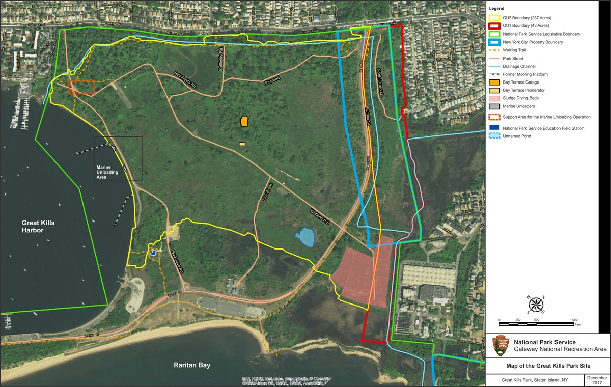 Map of Remedial Investigation at Great Kills Park