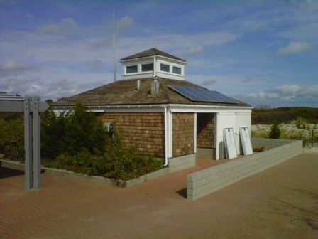 Solar panels grace the roofs of five beach centers at Sandy Hook Unit.