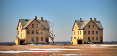 Historic buildings on Officers Row at Fort Hancock, part of Gateway's Sandy Hook Unit.