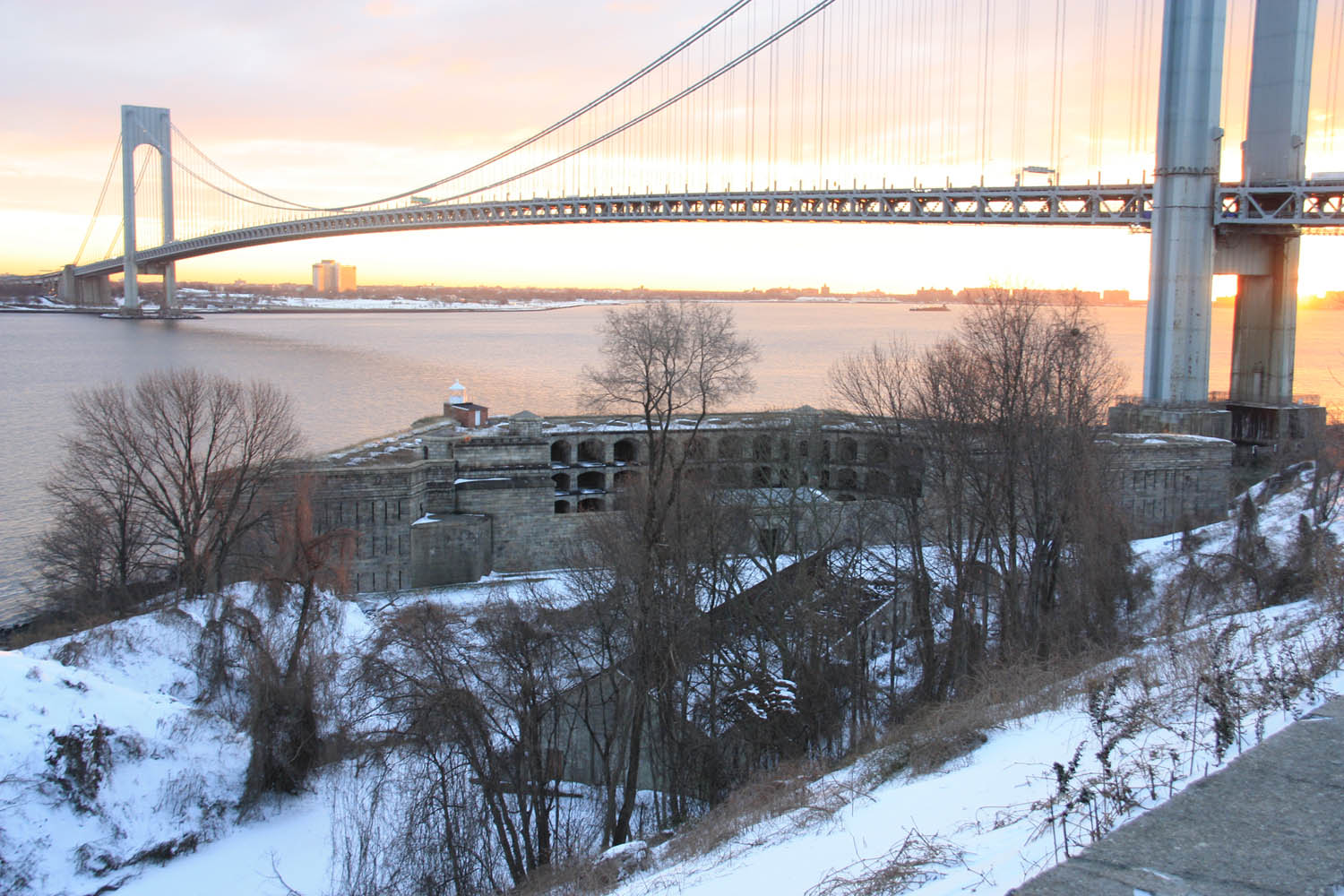 The first part of Staten Island seen by drivers across the Verrazano Bridge is Fort Wadsworth, part of Gateway's Staten Island Unit.