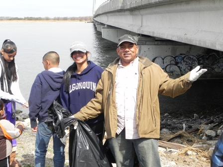 Last year's cleanup of North Channel Beach attracted volunteers from all over NYC, particularly in the Hindu community.