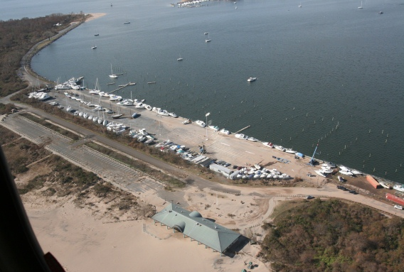 The marina at Great Kills Park on Staten Island is basically gone.