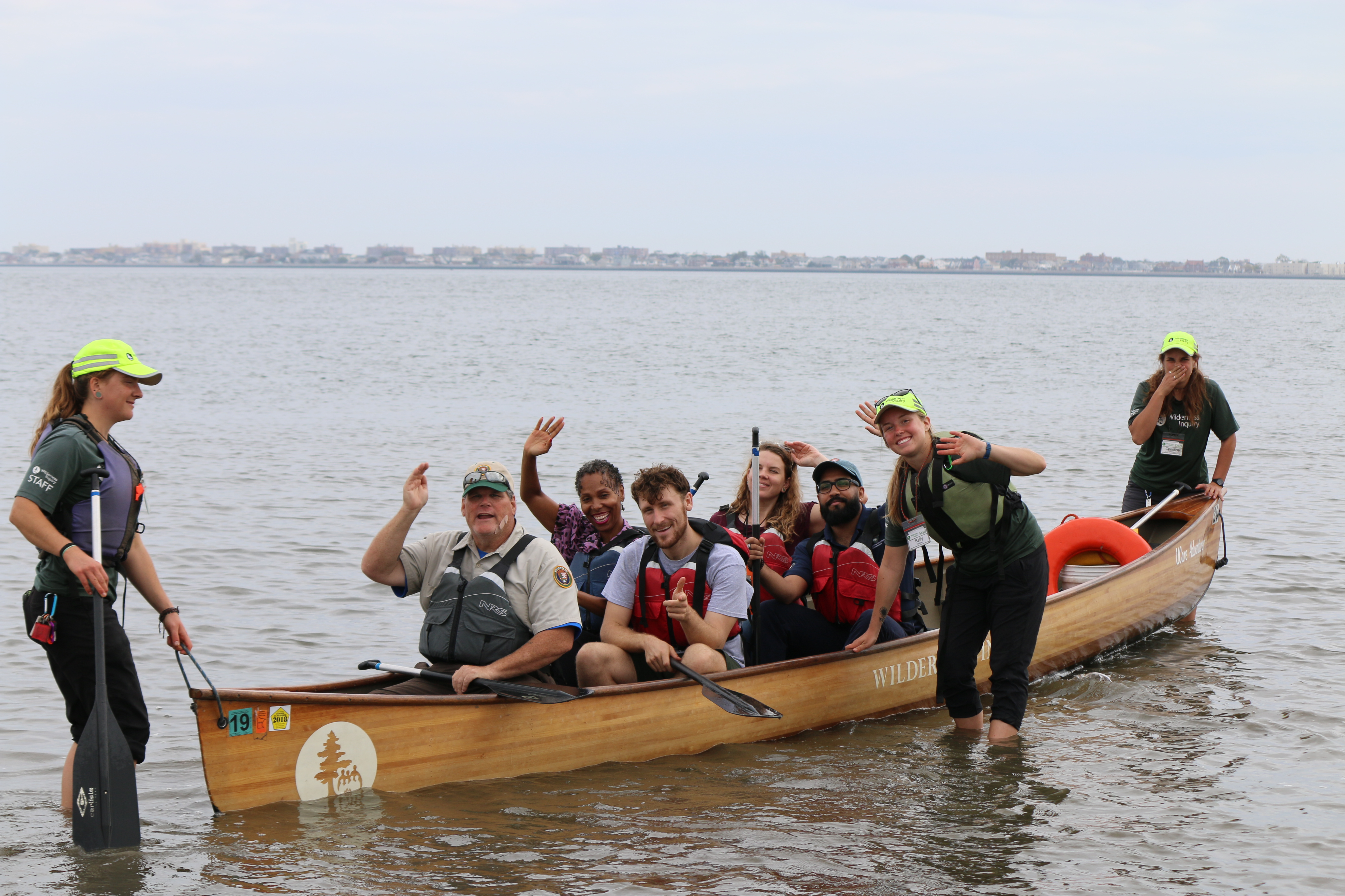 NPS Staff on Wilderness Inquiry 14 foot Voyager Canoe