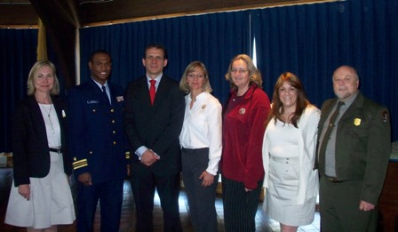 NFWF grant recipients alongside the US Coast Guard LCDR and the US Attorney for the District of New Jersey.