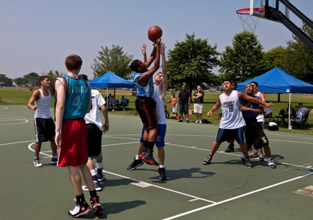 Come watch the 5-on-5 Basketball Tournament Saturday August 1 at Miller Field.