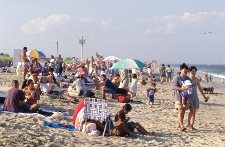 The Beach At Sandy Hook Unit In New Jersey