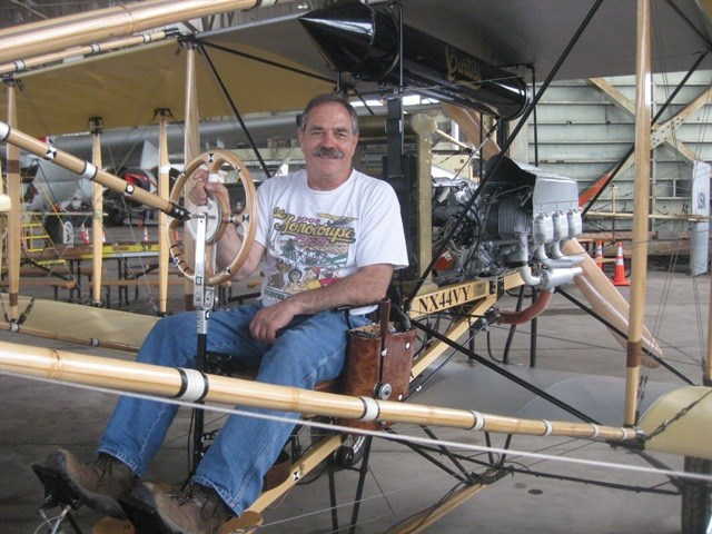 Veteran pilot Bob Coolbaugh has been restoring historic aircraft for a quarter of a century. Over a three year period, he designed and built the replica Ely-Curtiss Pusher using a combination of historically accurate materials and state of the art digital data devices.