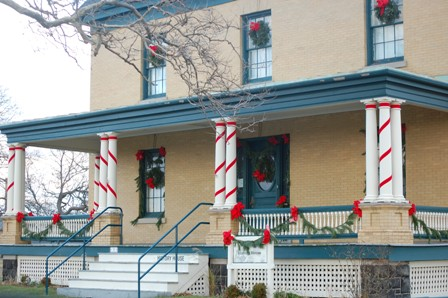 "Fort Hancock's History House is also a ""Holiday House"" for the month of December."