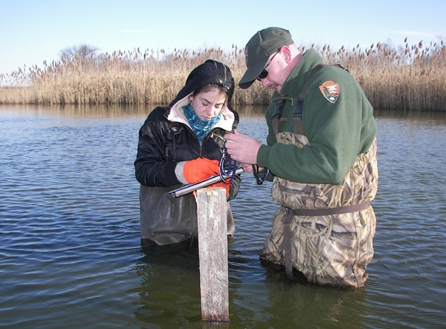 Monitoring water quality in Jamaica Bay.