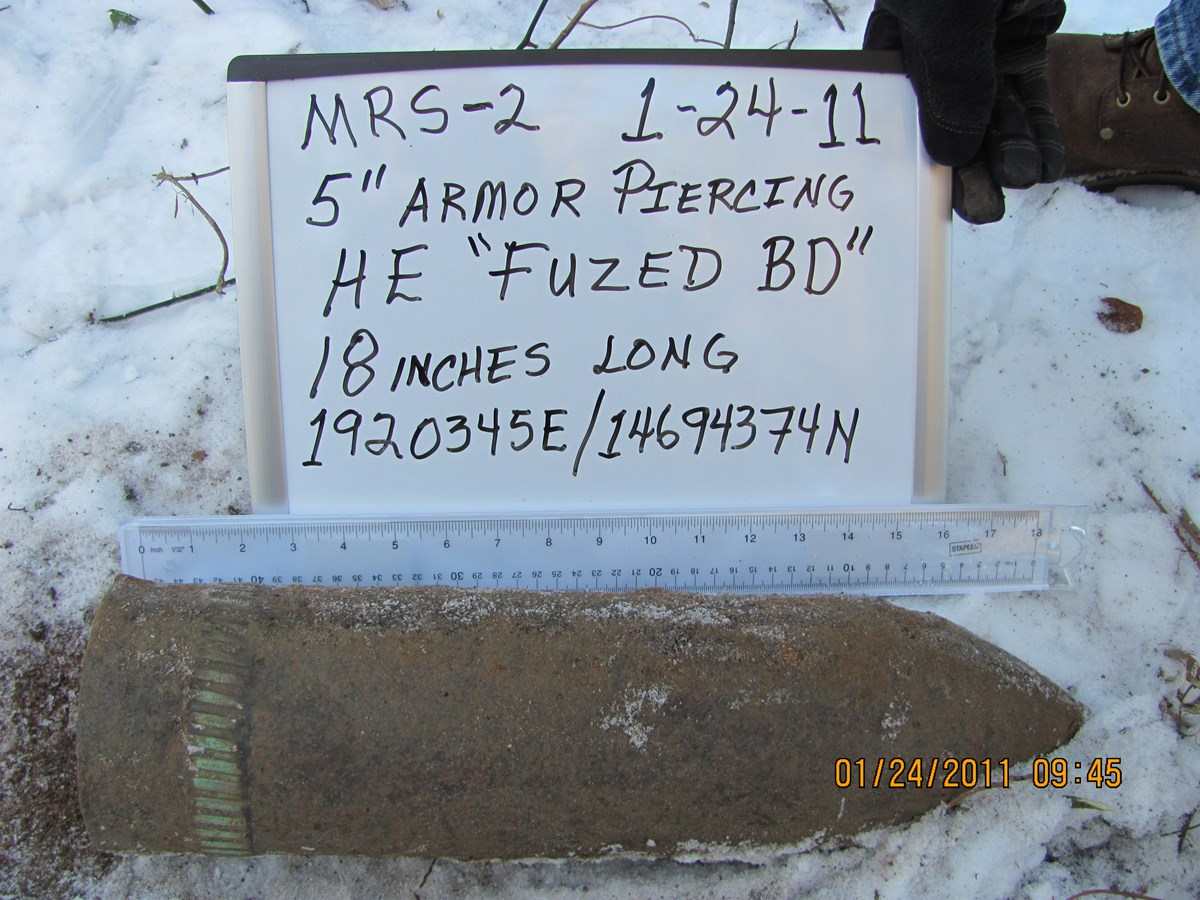 Unexploded ordnance found at Sandy Hook