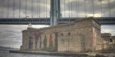 Fort Wadsworth's Battery Weed is visible to drivers along the Verrazano-Narrows Bridge that connects Brooklyn with Staten Island.