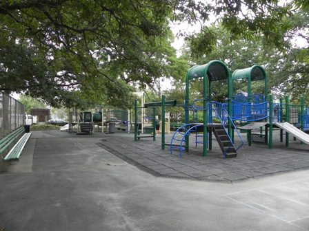 The playground at Frank Charles Park in Howard Beach, Queens.