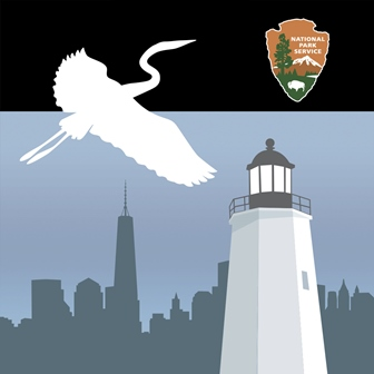 The icon for Gateway App includes a bird flying, the Sandy Hook lighthouse, and the Manhattan skyline.