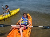 kayaker at Canarsie Pier