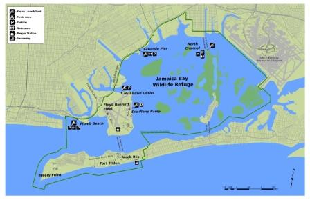 Jamaica Bay Kayak Trail Map