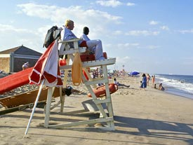 Sandy Hook Lifeguards and Beach