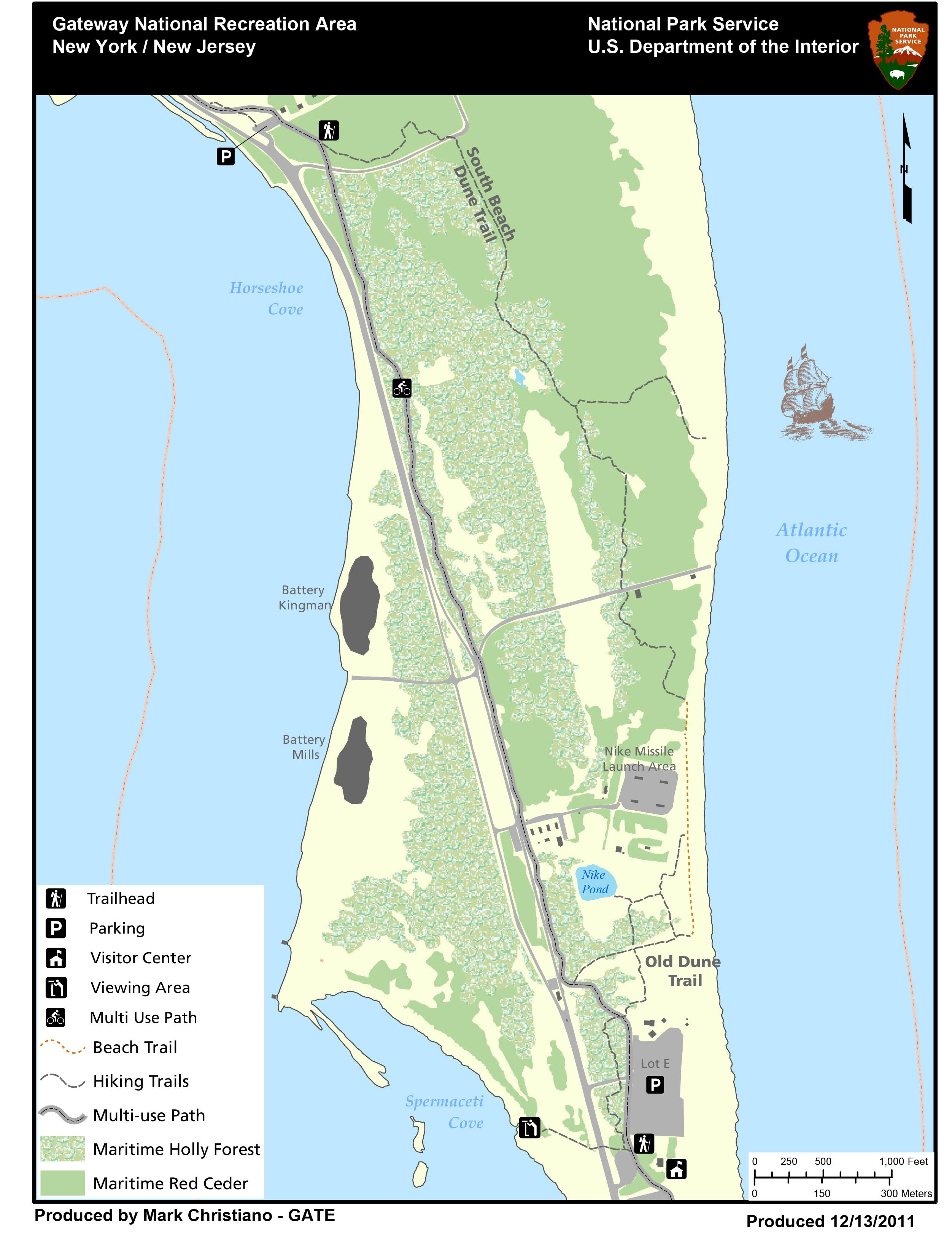 Maps For Sandy Hook Unit Gateway National Recreation Area U S